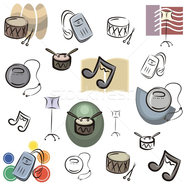 Vector Icon Series. Music. Stock photo © clipart_design