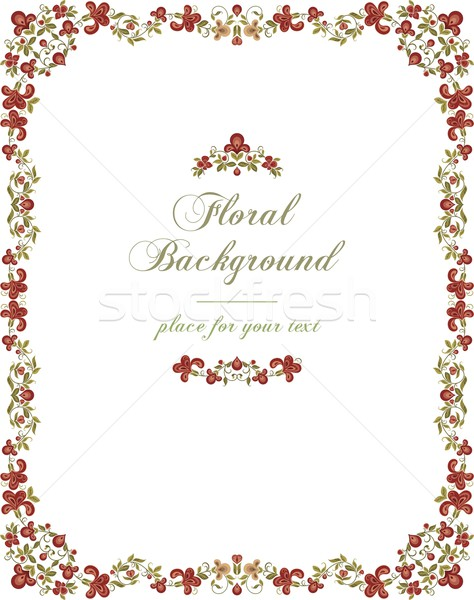 Vector vintage frame with floral ornaments. Stock photo © clipart_design