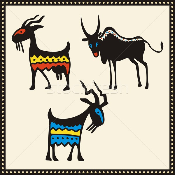 Vector set of African animals. Stock photo © clipart_design