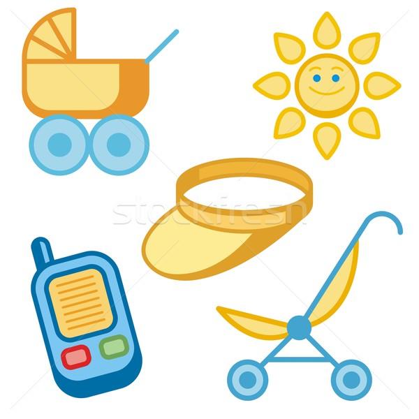 赤ちゃん アイコン 家族 電話 子 にログイン ストックフォト © clipart_design