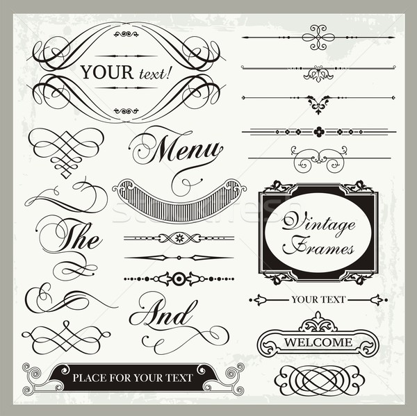 Vector set epocă decorare Imagine de stoc © clipart_design