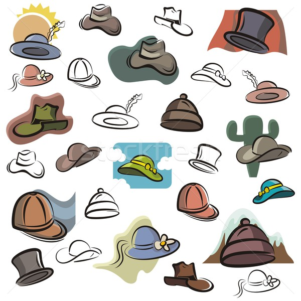 Vector Icon Series. Hats. Stock photo © clipart_design