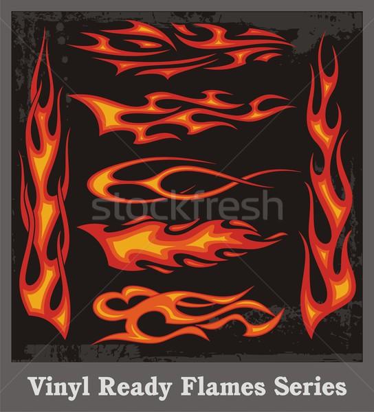 виниловых готовый вектора пламя автомобилей Сток-фото © clipart_design