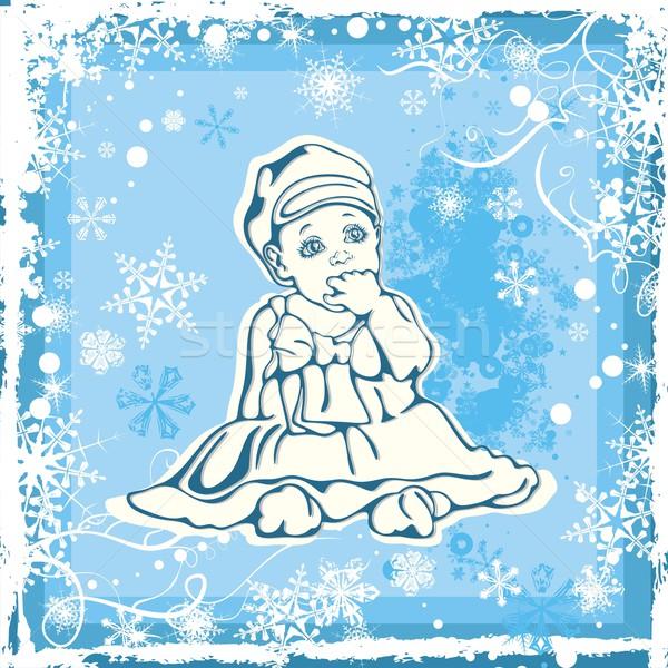 Cute зима ребенка девушки лице Сток-фото © clipart_design