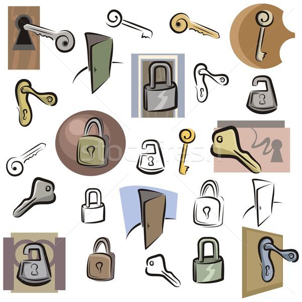 Vector Icon Series. Locks & Keys. Stock photo © clipart_design