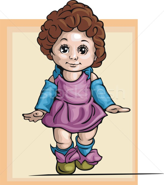 Vector illustration of a baby girl. Stock photo © clipart_design