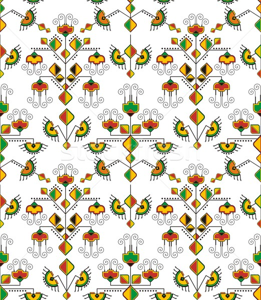 Vector seamless ornamental wallpaper, eastern background. Stock photo © clipart_design