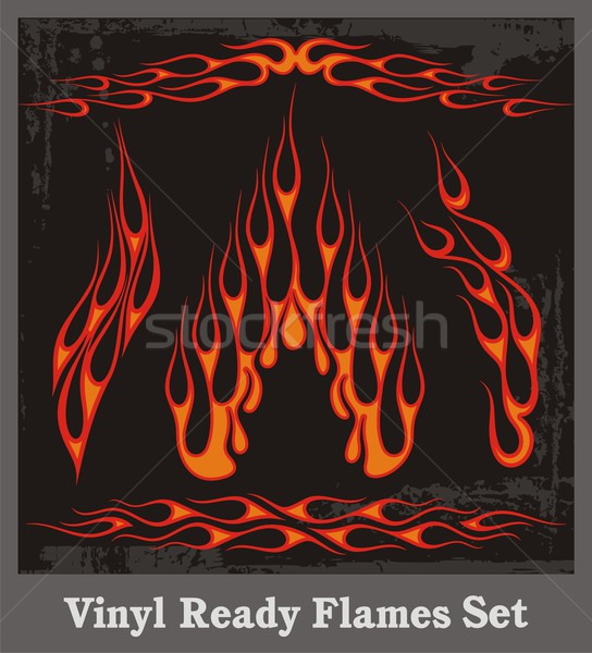 Vinyl ready vector flames, great for car and motorbike decals and stickers. Stock photo © clipart_design