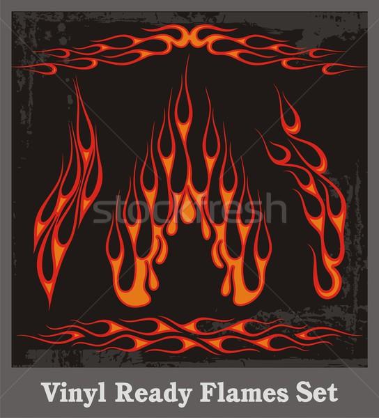 Vinyl klaar vector vlammen groot auto Stockfoto © clipart_design