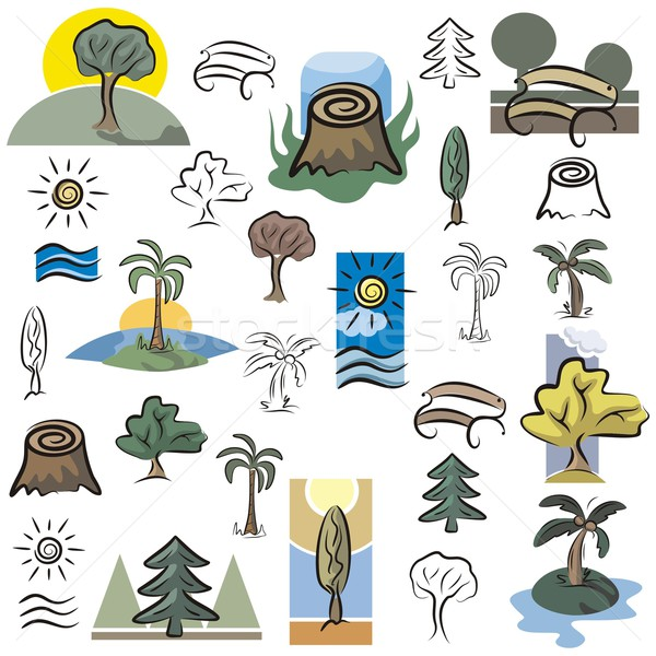 Vector Icon Series. Trees. Stock photo © clipart_design