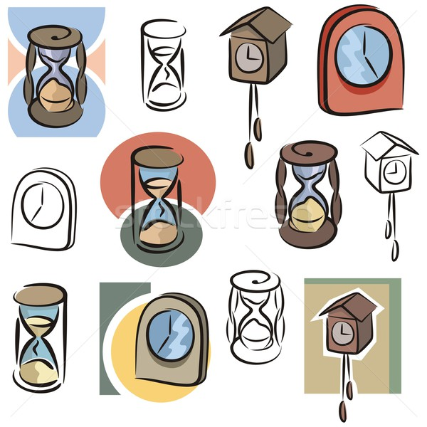 Vector Icon Series. Clocks & Hourglasses. Stock photo © clipart_design
