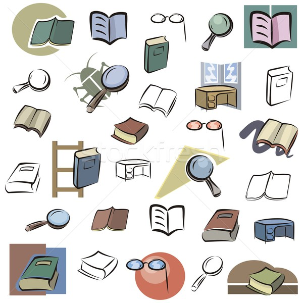 Vector Icon Series. Books & Reading Devices. Stock photo © clipart_design