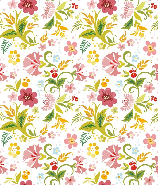 Vector seamless ornament wallpaper, retro background in vintage style. Stock photo © clipart_design