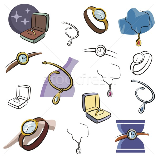 Vector Icons Series. Jewelry & Watches. Stock photo © clipart_design