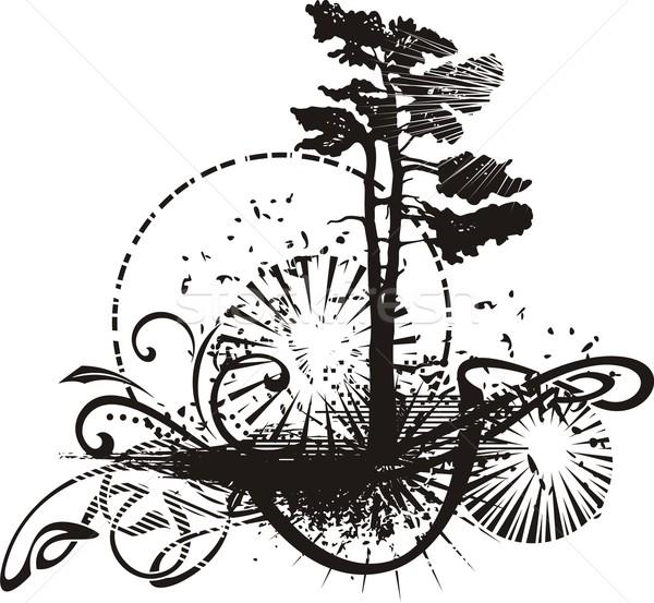 вектора Гранж дерево силуэта текстуры древесины Сток-фото © clipart_design