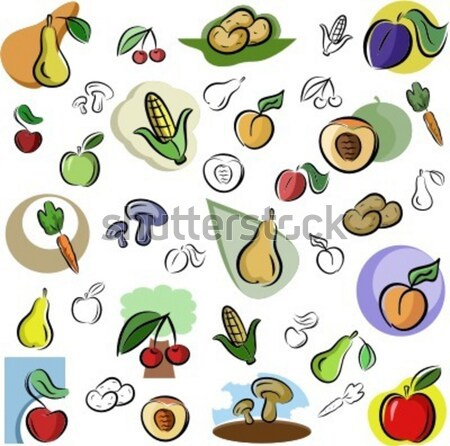 Vector Icon Series. Fruits & Vegetables. Stock photo © clipart_design