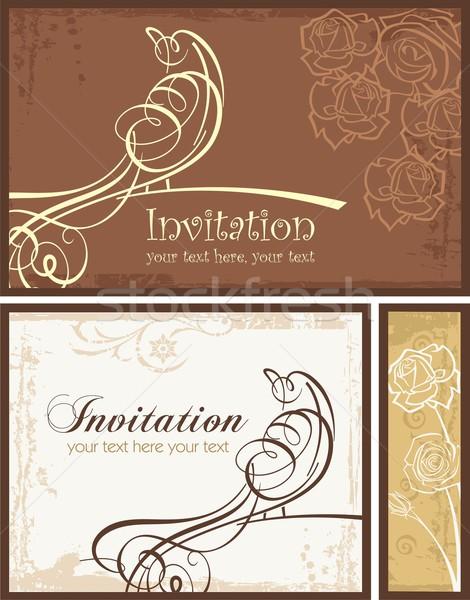 Vector ingesteld uitnodiging ontwerpen Stockfoto © clipart_design