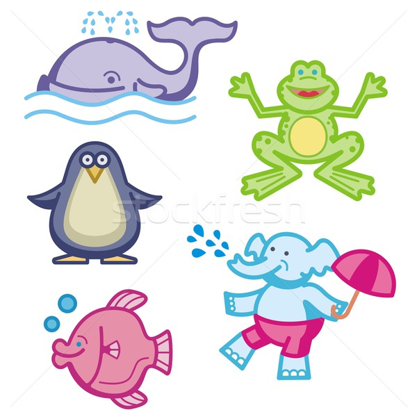 Baby icons series. Animals. Stock photo © clipart_design
