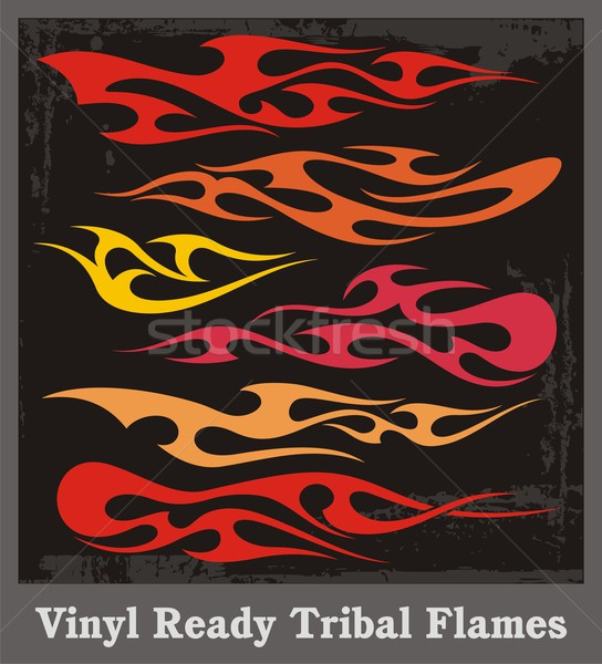 Vinyl ready tribal flames. Vector graphics, great for car, motorbike and t-shirt decals and stickers Stock photo © clipart_design