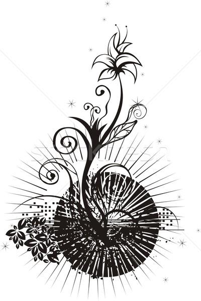 вектора Гранж цветочный детали текстуры аннотация Сток-фото © clipart_design