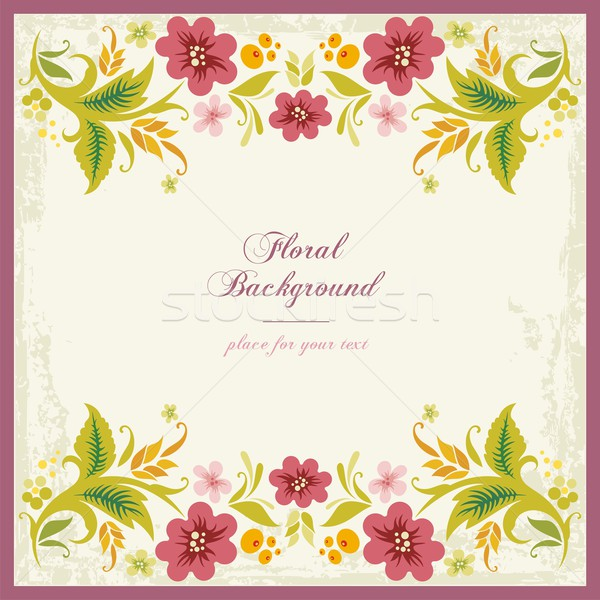Vector floral ornamental background in vintage style, with place for your text. Stock photo © clipart_design