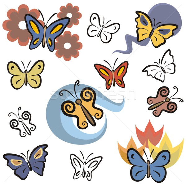 Vector Icon Series. Butterflies. Stock photo © clipart_design