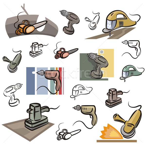 Vector Icon Series. Power Tools. Stock photo © clipart_design