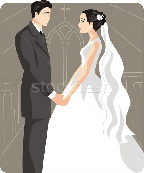 жених невеста свадьба женщину любви моде Сток-фото © clipart_design