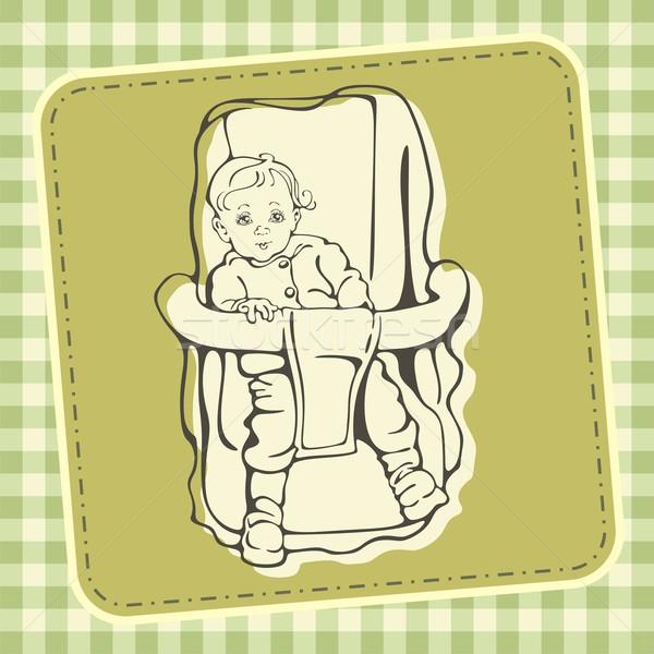 Baba biztonság szék aranyos textúra arc Stock fotó © clipart_design