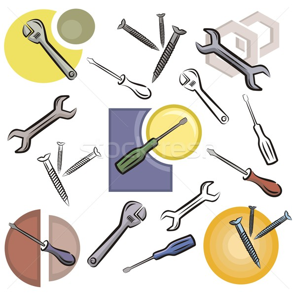 Vector Icon Series. Tools. Stock photo © clipart_design