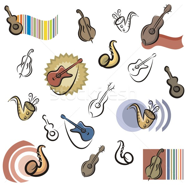 Vector Icon Series. Music Instruments. Stock photo © clipart_design