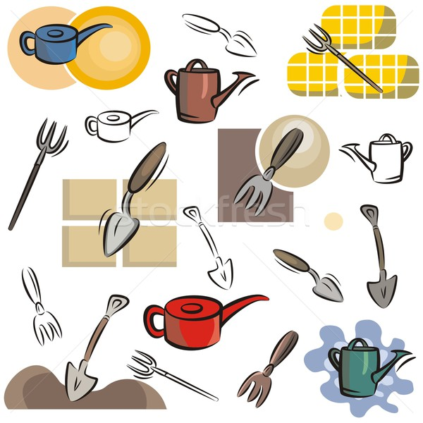 Vector Icon Series. Gardening Tools. Stock photo © clipart_design