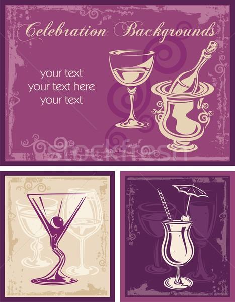 Сток-фото: вектора · празднования · фоны · различный · напитки