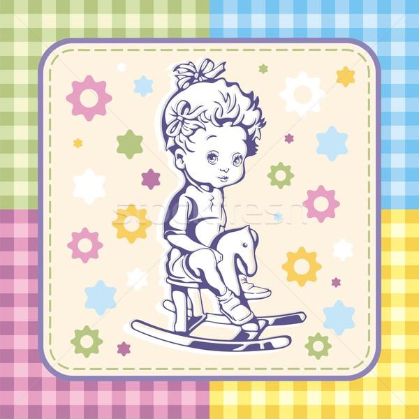 Cute Kid modèles texture Photo stock © clipart_design