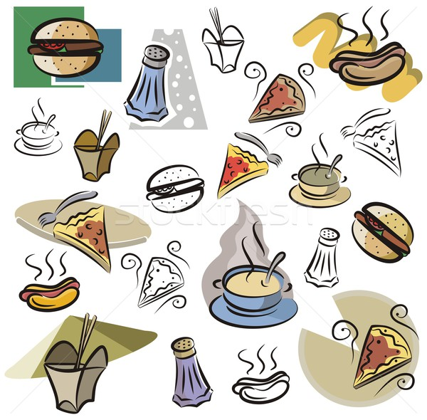 Vector Icon Series. Fastfood. Stock photo © clipart_design