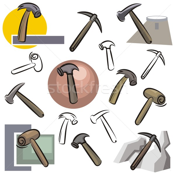 Vector Icon Series. Hammers. Stock photo © clipart_design