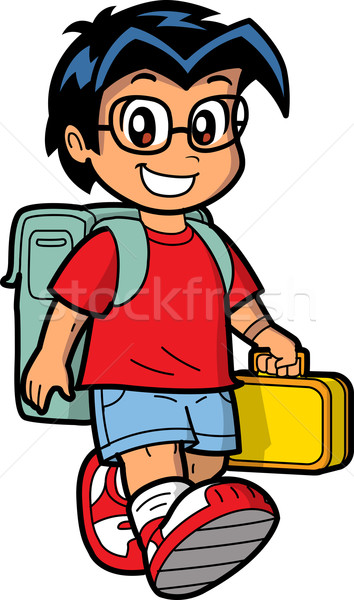 Happy Schoolboy Stock photo © ClipArtMascots