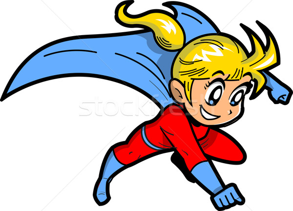 Anime Manga Girl Superhero Stock photo © ClipArtMascots