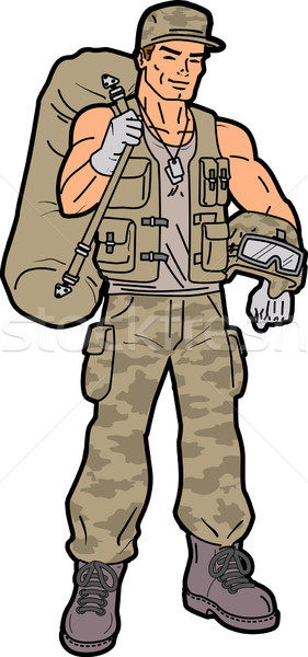 Soldier Stock photo © ClipArtMascots