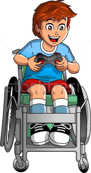 Wheelchair Gamer Stock photo © ClipArtMascots