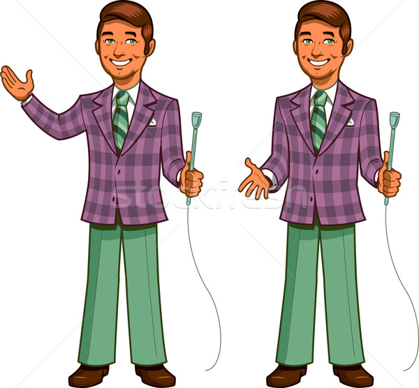 Retro Game Show Host Stock photo © ClipArtMascots