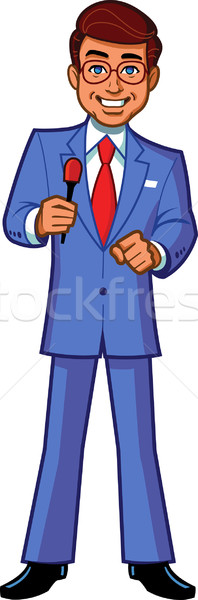 Game Show Host Announcer Stock photo © ClipArtMascots