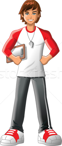 ジム 教師 監督 フィットネス インストラクター トレーナー ストックフォト © ClipArtMascots