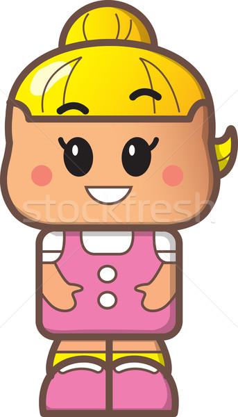 かわいい 少女 アバター 小さな ブロンド 文字 ストックフォト © ClipArtMascots