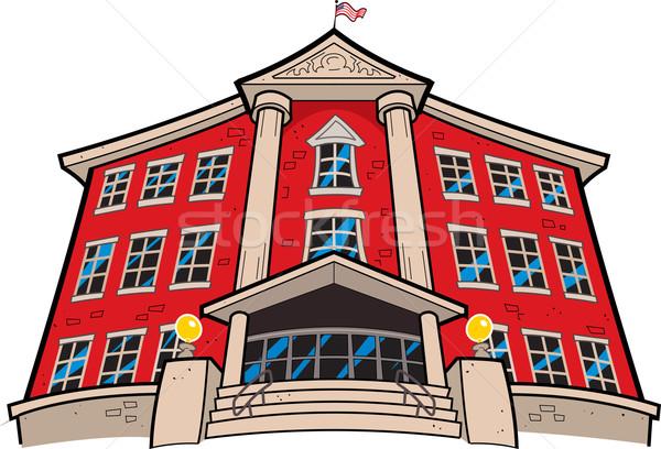 School Building Stock photo © ClipArtMascots