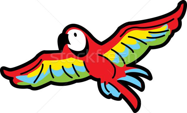 飛行 オウム カラフル 熱帯 鳥 緑 ストックフォト © ClipArtMascots