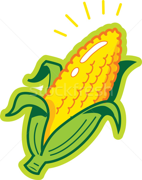 Mais orecchio stock popcorn vegetali agricoltore Foto d'archivio © ClipArtMascots