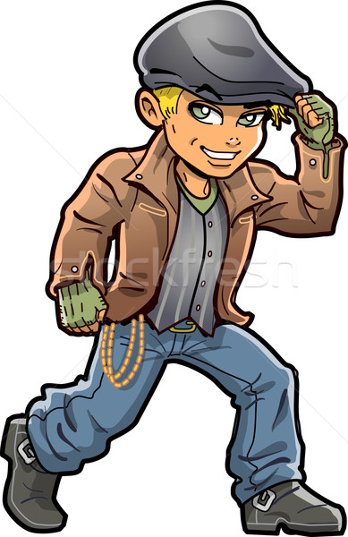 Handsome Young Irish Hooligan Stock photo © ClipArtMascots