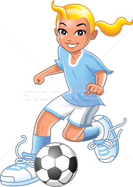 Fußball Mädchen ziemlich lächelnd jungen Stock foto © ClipArtMascots