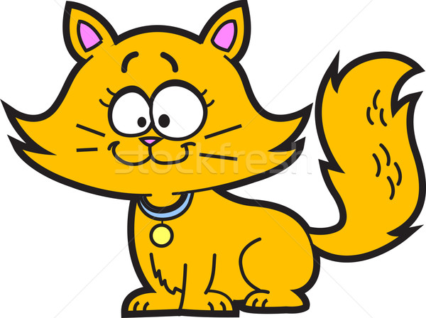 Cartoon gatito cute feliz naranja gato Foto stock © ClipArtMascots